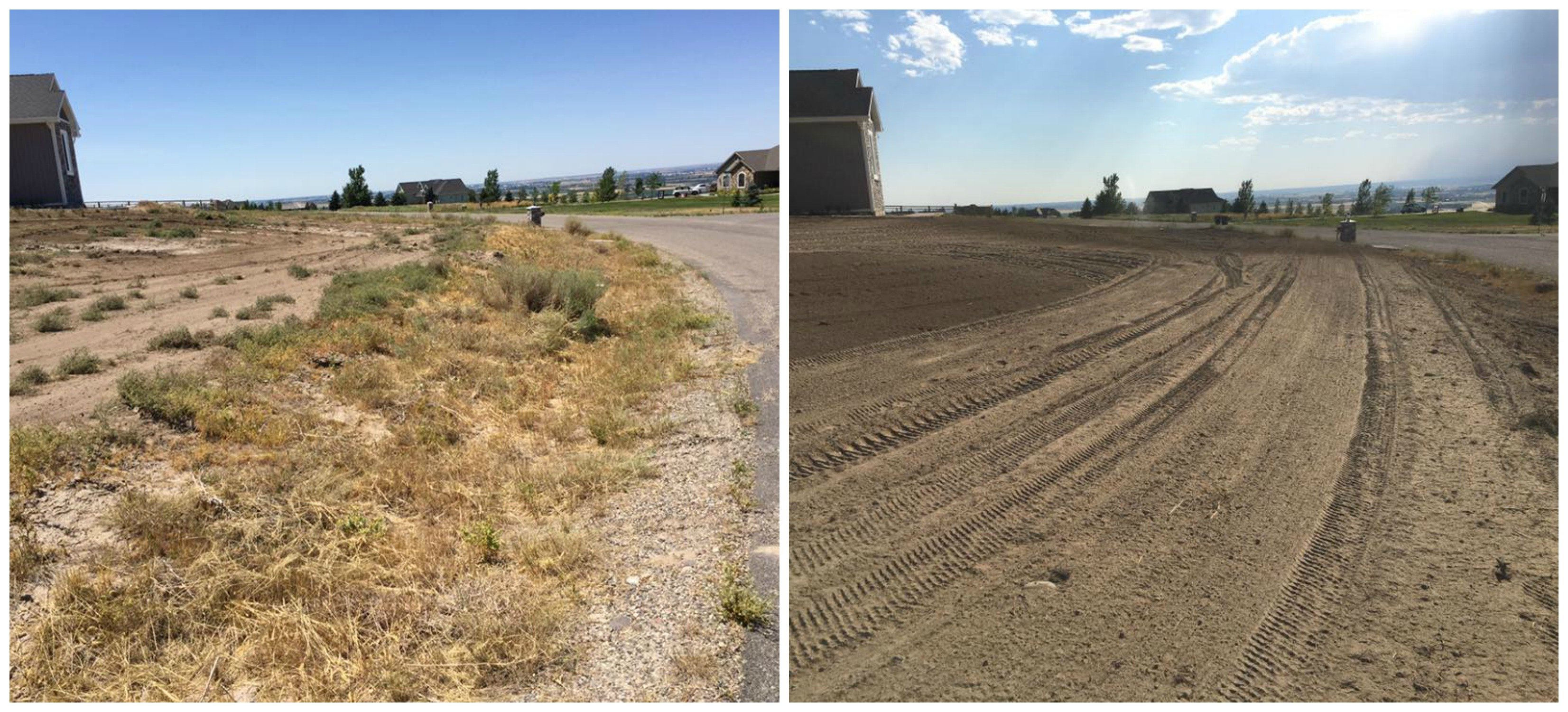 Before and After Landscape Preparation - Landscape Prep Idaho Falls