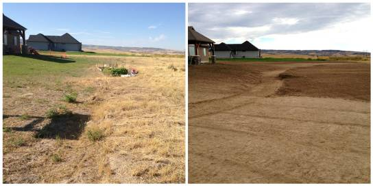 Before and After Landscape Prep - Landscape Prep Idaho Falls