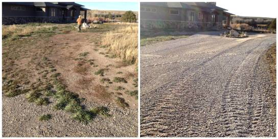 Before and After Road Building - Gravel Road Building Idaho Falls