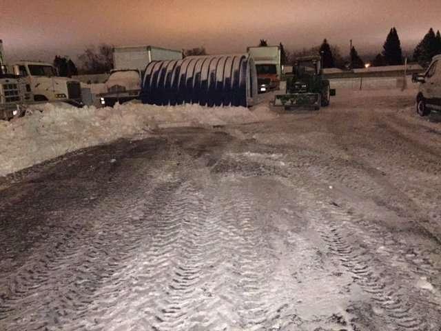 Snow Plowed Lot - Snow Removal Service Idaho Falls