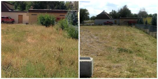 Before and After Lot Mowing - Lot Mowing Idaho Falls
