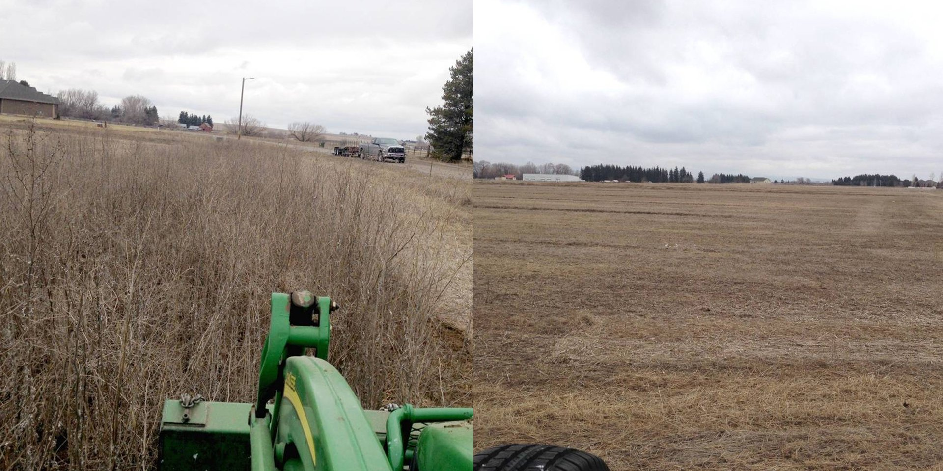 Before and After Field Mowing - Field Mowing Idaho Falls